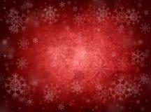 Fundo vermelho do Natal do gelo Imagem de Stock Royalty Free