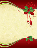 Fundo vermelho do Natal do ouro do ANG Fotografia de Stock Royalty Free