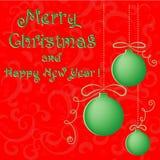 Fundo vermelho do Natal do vetor. corte o projeto de papel Imagens de Stock Royalty Free