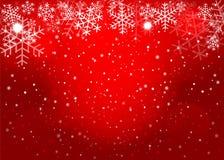 Fundo vermelho do Natal Vetor eps10 Fotografia de Stock