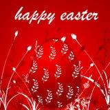 Fundo vermelho do ovo de easter Foto de Stock Royalty Free