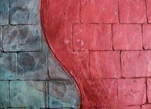 fundo vermelho do passeio do &blue imagem de stock royalty free