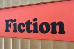 Fundo vermelho do sinal da ficção em uma biblioteca Imagem de Stock Royalty Free