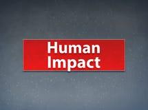 Fundo vermelho do sumário da bandeira do impacto humano ilustração royalty free