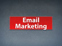 Fundo vermelho do sumário da bandeira do mercado do e-mail ilustração royalty free