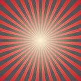 Fundo vermelho do sunburst Vetor Fotografia de Stock Royalty Free