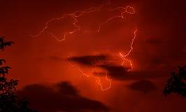 Fundo vermelho do temporal. Imagens de Stock