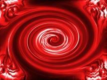 Fundo vermelho do twirl Fotos de Stock Royalty Free