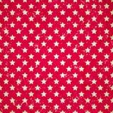 Fundo vermelho do vintage com estrelas Imagem de Stock