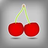 Fundo vermelho doce do vetor da cereja Ilustração do Vetor
