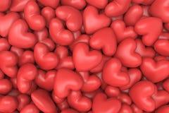 Fundo vermelho dos corações Fotografia de Stock