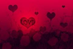 Fundo vermelho dos corações ilustração royalty free