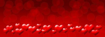 Fundo vermelho dos corações Fotos de Stock