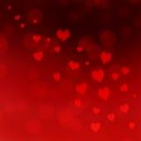 Fundo vermelho dos corações Fotografia de Stock Royalty Free