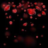 Fundo vermelho dos diamantes Imagens de Stock