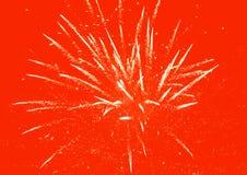 Fundo vermelho dos fogos-de-artifício fotografia de stock royalty free