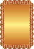 Fundo vermelho dourado Fotos de Stock Royalty Free