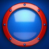Fundo vermelho e azul do metal 3D rendido ilustração do vetor