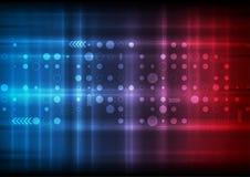 Fundo vermelho e azul do sumário da ficção científica da tecnologia Foto de Stock Royalty Free