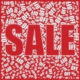 Fundo vermelho e branco da venda Imagens de Stock