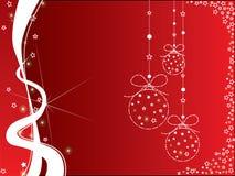 Fundo vermelho e branco do Natal Fotografia de Stock