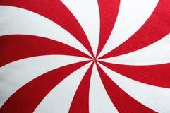 Fundo vermelho e branco radial de matéria têxtil do vintage Imagem de Stock