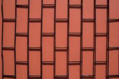 Fundo vermelho e marrom do grunge da textura da parede de tijolo Fotografia de Stock