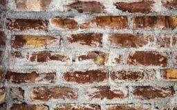 Fundo vermelho e marrom velho da textura da parede de tijolo da cor foto de stock