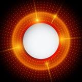 Fundo vermelho e preto abstrato com círculos Fotos de Stock