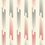 Fundo vermelho e preto abstrato Teste padrão vertical sem emenda ilustração royalty free