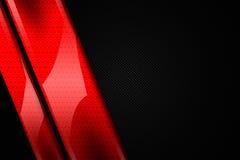 fundo vermelho e preto do metal Fotos de Stock