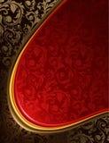 Fundo vermelho e preto luxuoso Imagens de Stock Royalty Free