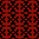 Fundo vermelho e preto sem emenda Foto de Stock Royalty Free