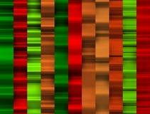 Fundo vermelho e verde das faixas com curvas e sombras poderosas Imagem de Stock