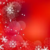 Fundo vermelho elegante do Natal Foto de Stock