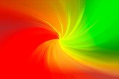 Fundo vermelho espiral de mistura abstrato da cor amarela e verde Fotografia de Stock Royalty Free