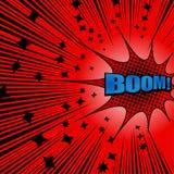 Fundo vermelho explosivo cômico brilhante ilustração do vetor