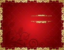 Fundo vermelho floral Fotografia de Stock Royalty Free