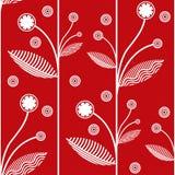 Fundo vermelho floral do vetor Fotos de Stock Royalty Free