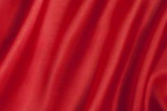 Fundo vermelho liso do cetim Foto de Stock Royalty Free