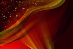 Fundo vermelho mágico do inverno Fotos de Stock Royalty Free