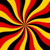 Fundo vermelho, preto e amarelo do Sunburst do vetor Imagens de Stock