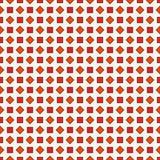 Fundo vermelho repetido dos diamantes Motivo geométrico Projeto de superfície sem emenda do teste padrão com o ornamento quadrado Imagens de Stock Royalty Free