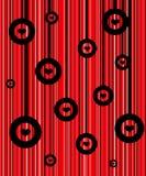 Fundo vermelho retro ilustração do vetor