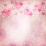Fundo vermelho roxo do espaço da cópia do coração do grunge bonito Imagens de Stock