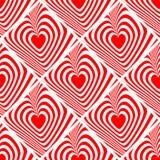 Fundo vermelho sem emenda do coração do projeto Imagens de Stock Royalty Free