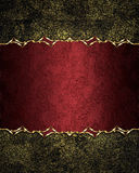 Fundo vermelho velho gasto do Grunge com uma placa elegante Elemento para o projeto Molde para o projeto copie o espaço para o fo Imagem de Stock