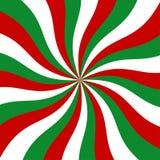 Fundo vermelho, verde e branco do Sunburst do vetor Imagem de Stock