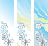 Fundo vertical com as flores brancas decorativas Fotografia de Stock Royalty Free