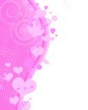 Fundo vertical cor-de-rosa encantador Ilustração Stock